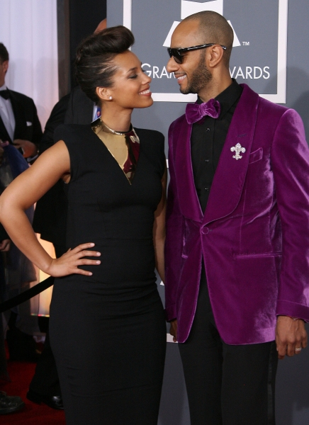 Alicia Keys and Swizz Beatz at 2012 Grammy Awards- Red Carpet Coverage!