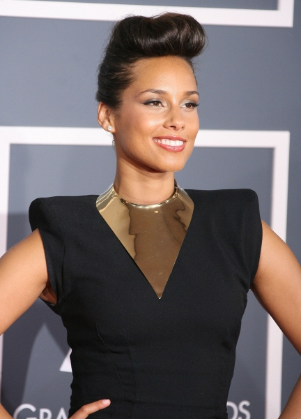 Alicia Keys at Red Carpet Fashions from the 2012 Grammys!