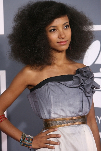 Esperanza Spalding at Red Carpet Fashions from the 2012 Grammys!