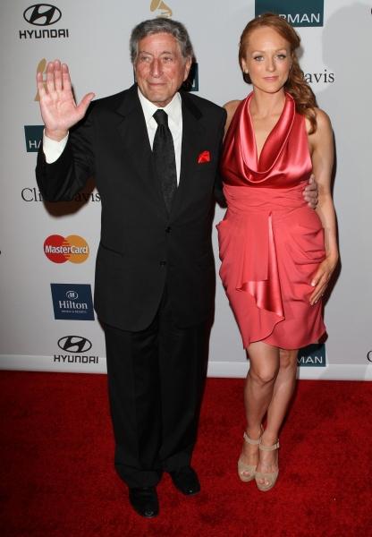 Tony Bennett, Antonia Bennett at Inside Clive Davis' 2012 Pre-Grammy Gala!