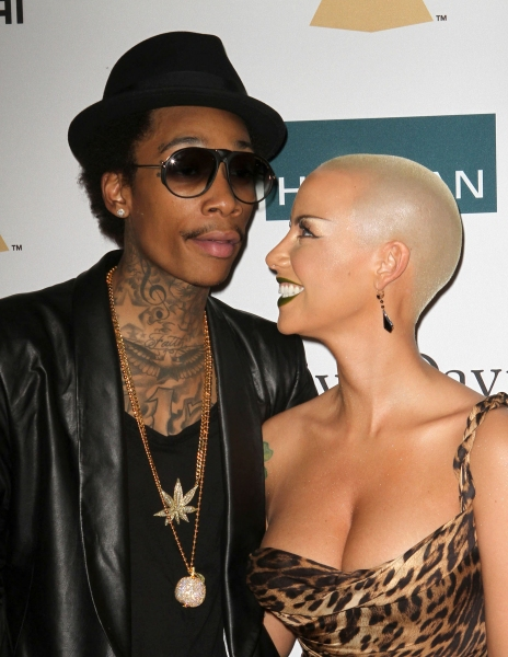 Wiz Khalifa, Amber Rose at Inside Clive Davis' 2012 Pre-Grammy Gala!
