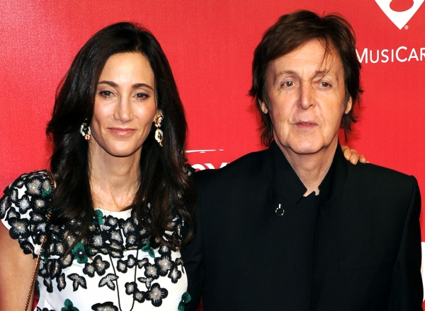 Nancy Shevell and Paul McCartney  at Alicia Keys, Katy Perry, et al. at the 2012 Music Cares Gala