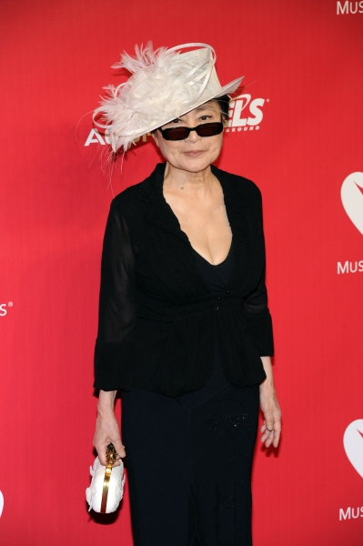 Yoko Ono arrives at the 2012 MusiCares Person Of The Year Gala Honoring Paul McCartney at the Los Angeles Convention Center in Los Angeles, California. February 10, 2012. © Jay Valena / Retna Ltd.