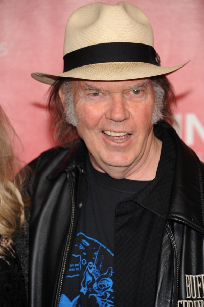 Neil Young arrives at the 2012 MusiCares Person Of The Year Gala Honoring Paul McCartney at the Los Angeles Convention Center in Los Angeles, California. February 10, 2012. © Jay Valena / Retna Ltd.