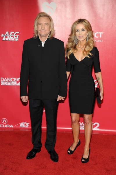 Joe Walsh and Majorie Walsh arrive at the 2012 MusiCares Person Of The Year Gala Honoring Paul McCartney at the Los Angeles Convention Center in Los Angeles, California. February 10, 2012. © Jay Valena / Retna Ltd.