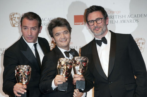 Jean Dujardin, Thomas Langmann and Michel Hazanavicius