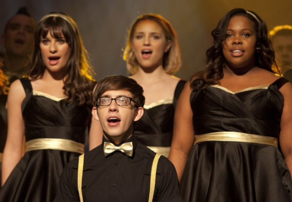 Lea Michele, Kevin McHale, Dianna Agron and Amber Riley at Photos and Audio: Tonight on GLEE- Kelly Clarkson, Nicki Minaj, and More!