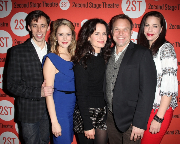 Kevin Cahoon, Marnie Schulenburg, Elizabeth Reaser, Norbert Leo Butz & Jennifer Regan at HOW I LEARNED TO DRIVE Celebrates Opening Night at Second Stage!