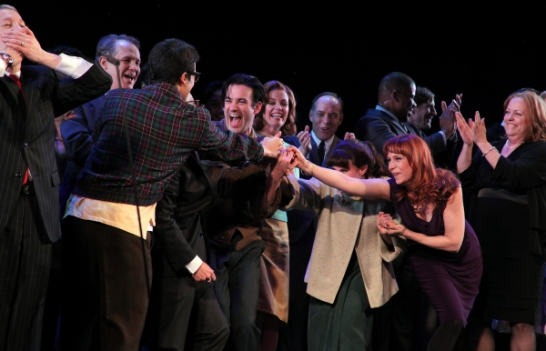Gary Stevens, Jim Walton, Lin-Manuel Miranda, Lonny Price, Colin Donnell, Celia Keenan-Bolger & Ann Morrison with Members of the Original Broadway Cast & the Encores! Cast members
