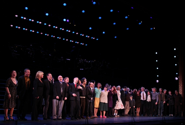 Lin-Manuel Miranda, Lonny Price, Colin Donnell, Elizabeth Stanley, Celia Keenan-Bolger, Ann Morrison & Betsy Wolfe with Members of the Original Broadway Cast & the Encores! Cast members  at MERRILY WE ROLL ALONG Original and Encores! Casts Reunite at City Center - Sondheim & More!