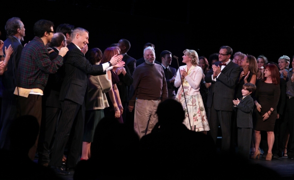 Stephen Sondheim with Liz Callaway, Gary Stevens, Lin-Manuel Miranda, Lonny Price, Colin Donnell, Elizabeth Stanley, Celia Keenan-Bolger, Ann Morrison & Betsy Wolfe with Members of the Original Broadway Cast & the Encores! Cast members