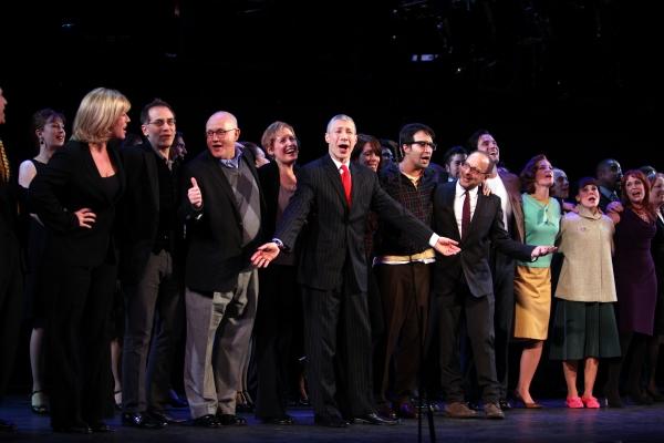 Liz Callaway, Gary Stevens, Jim Walton, Lin-Manuel Miranda, Lonny Price, Colin Donnell, Celia Keenan-Bolger & Ann Morrison with Members of the Original Broadway Cast & the Encores! Cast members