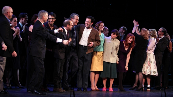 Gary Stevens, Jim Walton, Lin-Manuel Miranda, Lonny Price, Colin Donnell, Celia Keenan-Bolger & Ann Morrison with Members
