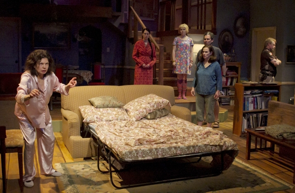 Family matriarch Violet (Martha Jacobs) struggles with reality as her family – Johnna (Erin Cohenour), Jean (Abby Hart), Bill (Bill Simmons), Barbara (Diane Kondrat) and the Sheriff – stand by.