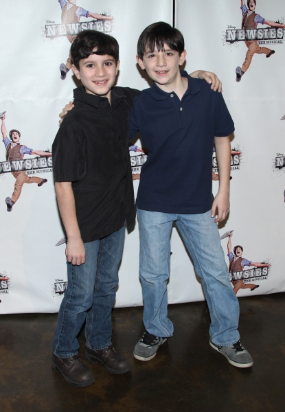 Lewis Grosso & Matthew Schechter  at Extra! Extra! Meet the Broadway Company of NEWSIES!