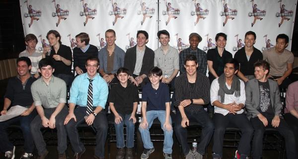 Jeremy Jordan & the cast