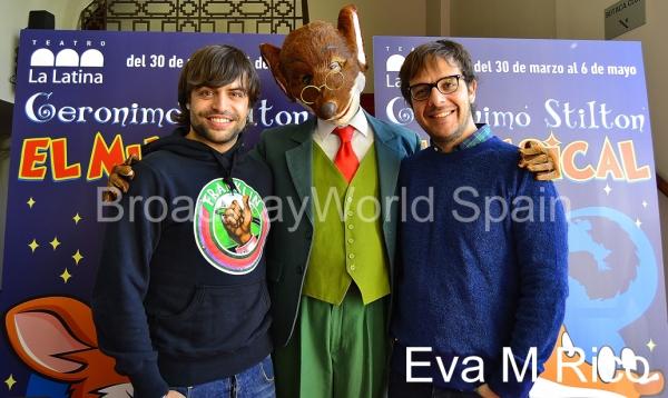 Manu Guix, Geronimo Stilton y Angel Llacer Photo