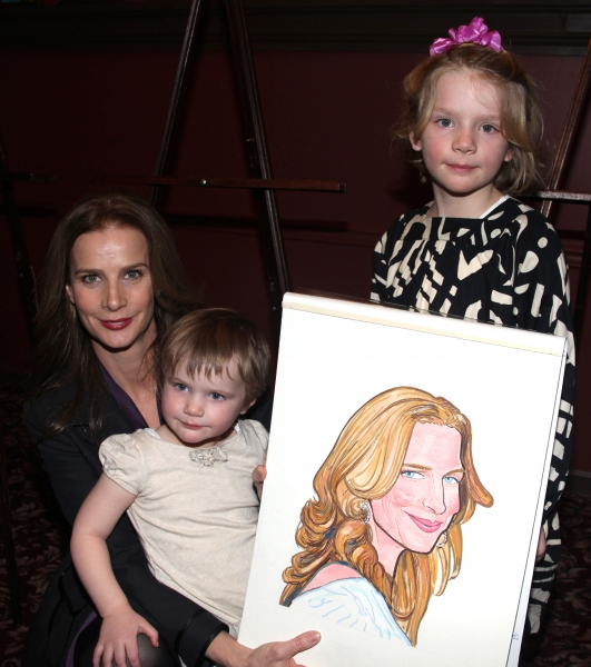 Rachel Griffiths with daughters Adalaila Griffiths and Clementine Griffiths