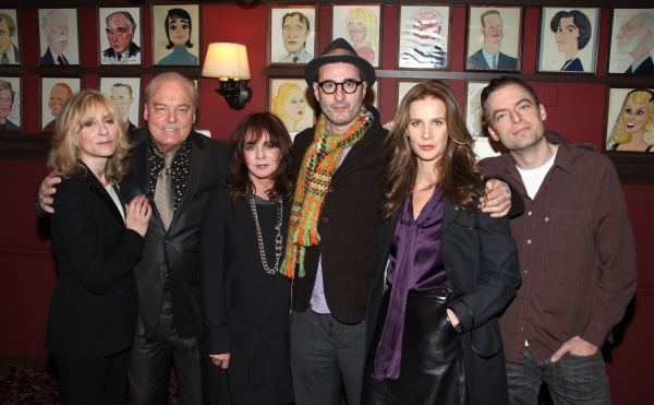 Judith Light, Stacy Keach, Stockard Channing, Jon Robin Baitz, Rachel Griffiths & Justin Kirk  at Sardi's Honors OTHER DESERT CITIES' Stacey Keach, Stockard Channing & Rachel Griffiths with Wall Caricatures!