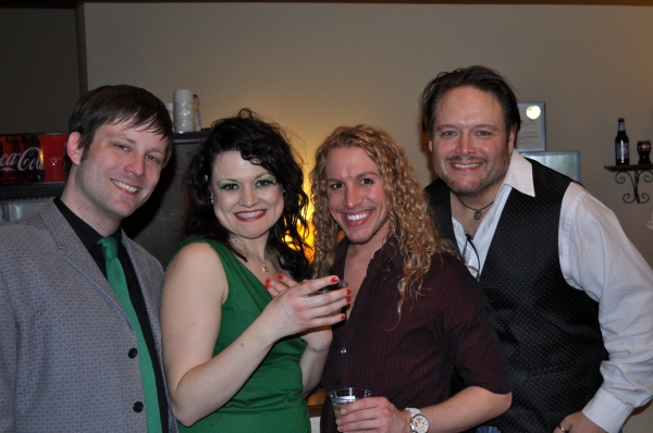 Shawn Quinlan (Chris), Betsy Morgan (Googie Gomez), Jake Autizen (Man in Chaps) and Greg Payne (Abe)