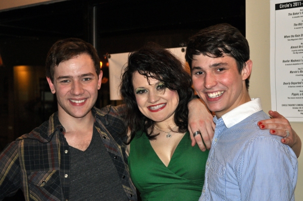 Jordan Phelps (Tiger), Betsy Morgan (Googie Gomez) and Nicholas Reinhart (Duff)
