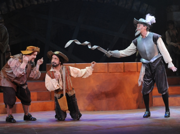 Justin Robertson, Steven Glaudini and Davis Gaines at Musical Theatre West Presents Davis Gaines in MAN OF LA MANCHA