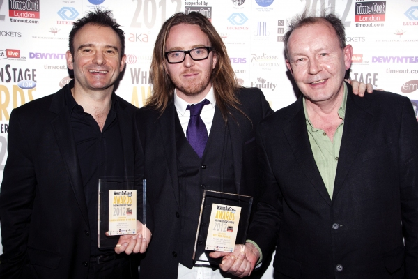 Matthew Warchus, Tim Minchin and Michael Boyd12th Annual Whatsonstage.com Awards Conc Photo