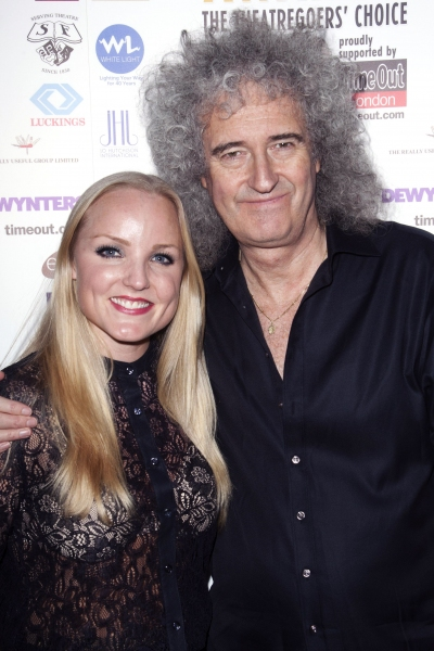 Kerry Ellis and Brian May (Credit: Photo by Dan Wooller/Rex / Rex USA) at More From The Whatsonstage.com Awards!