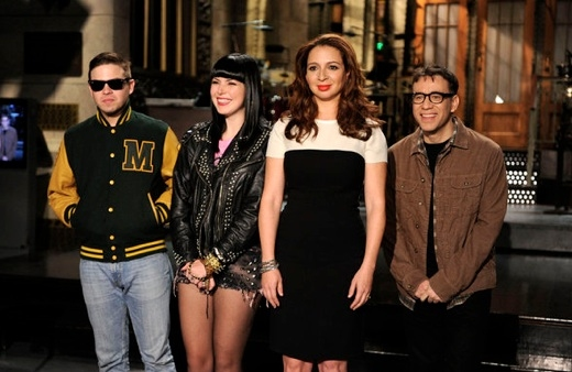 Sleigh Bells, Maya Rudolph & Fred Armisen at Justin Timberlake, Amy Poehler Join Maya Rudolph on SNL