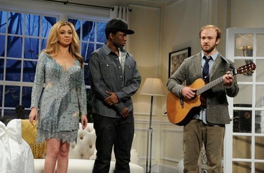 Maya Rudolph, Jay Pharaoh & Justin Timberlake at Justin Timberlake, Amy Poehler Join Maya Rudolph on SNL