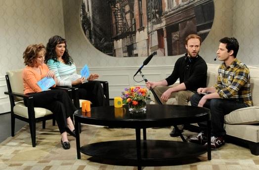 Amy Poehler, Maya Rudolph, Justin Timberlake & Andy Samberg at Justin Timberlake, Amy Poehler Join Maya Rudolph on SNL