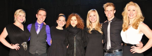 Ryah Nixon, Benjamin Rauhala, Lora Lee Gayer, Bernadette Peters, Tess Soltau, Hunter Ryan Herdlicka and Jessica Waxman