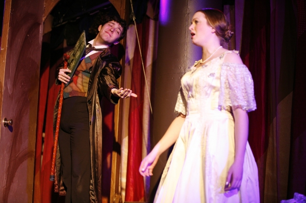 David Hathaway as Goldschmidt and Rachel Sparrow as Jenny Lind Photo