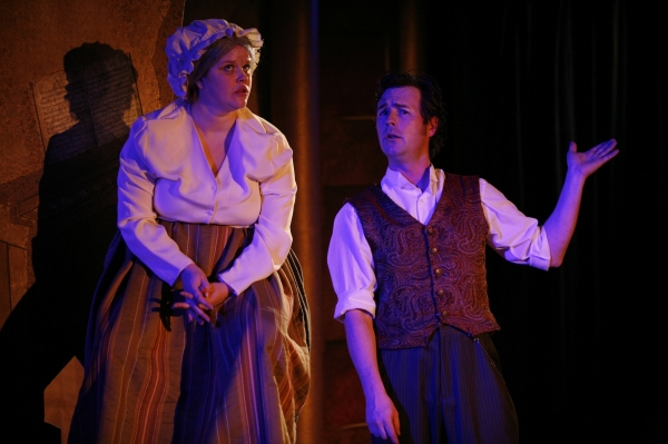 Erin Daly as Joyce Heth and Jason Bowen as P.T. Barnum
