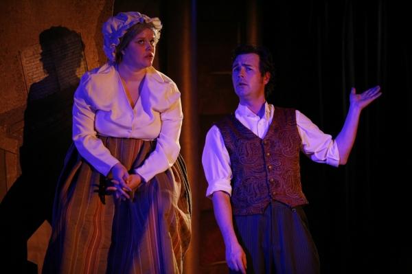 Erin Daly as Joyce Heth and Jason Bowen as P.T. Barnum