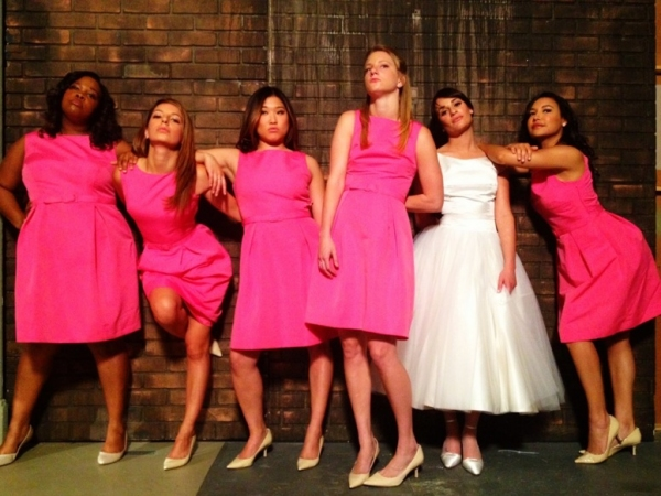 Amber Riley, Dianna Agron, Jenna Ushkowitz, Heather Morris, Lea Michele & Naya Rivera at Tonight's GLEE Episode to Parody 'Bridesmaids'?
