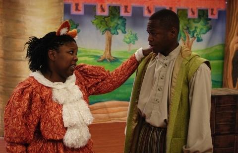Lakeetha Blakeney as Puss and Jerome Lowe as John