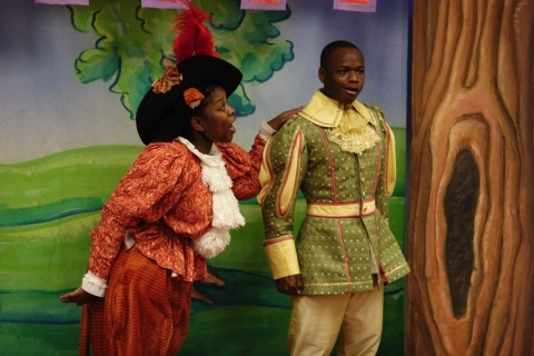 Lakeetha Blakeney as Puss and Jerome Lowe as John