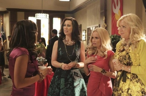 Marisol Nichols, Miriam Shor, Kristin Chenoweth & Jennifer Aspen at New Photos of Kristin Chenoweth in ABC's GCB