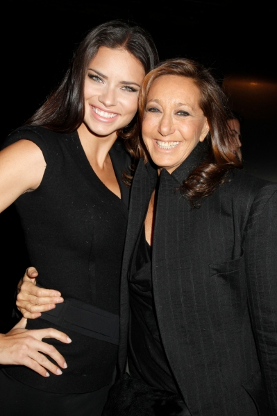 Adriana Lima and Donna Karan at Donna Karan Show at NYC Fashion Week