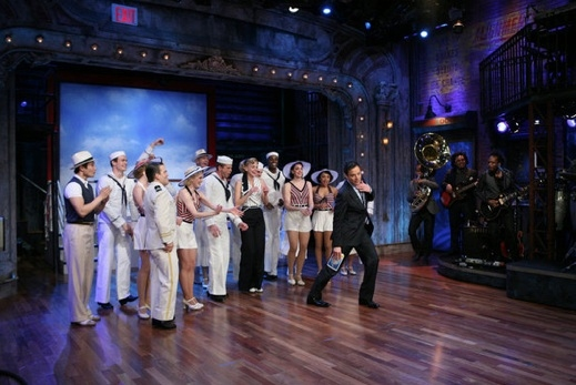 Photo Flash: Sutton Foster, Josh Gad, Andrew Rannells on LATE NIGHT WITH JIMMY FALLON