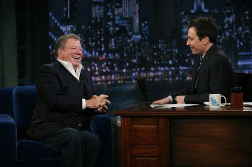 William Shatner & Jimmy Fallon at Sutton Foster, Josh Gad, Andrew Rannells on LATE NIGHT WITH JIMMY FALLON