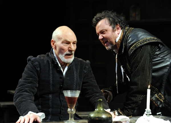 Patrick Stewart and Richard McCabe at First Look at Patrick Stewart in BINGO at The Young Vic