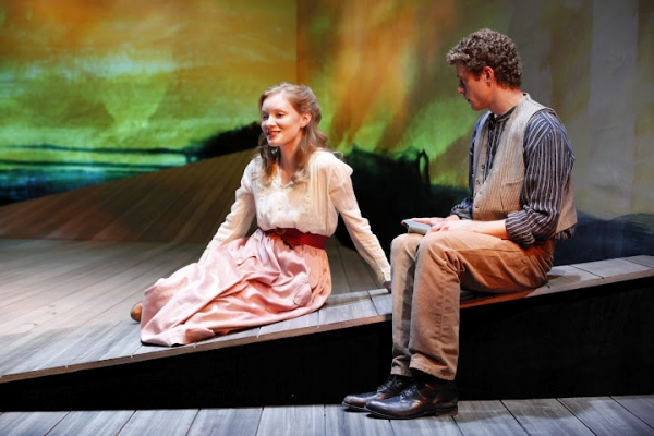 Wrenn Schmidt (Ruth Atkins) and Lucas Hall (Robert Mayo) in Eugene O'Neill's BEYOND THE HORIZON at Irish Repertory Theatre's BEYOND THE HORIZON