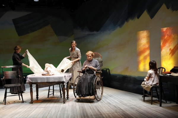 Johanna Leister (Kate Mayo), Wrenn Schmidt (Ruth Atkins), Patricia Conolly (Mrs. Atkins), Aimee Laurence (Mary) in Eugene O'Neill's BEYOND THE HORIZON