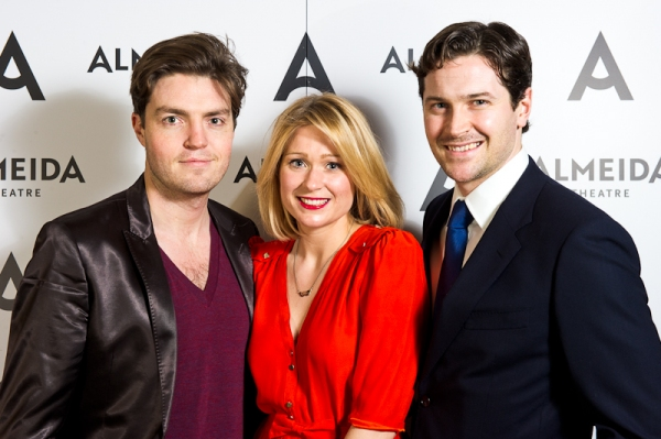 Tom Burke, Sian Brooke and Kieran Bew