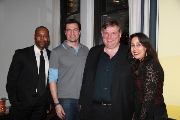 Artist T. Oliver Reid, Gerrit Meier, Ty Roberts and Monica Yunus