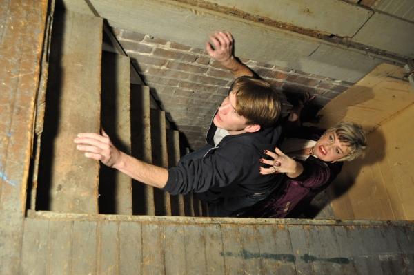 Zak Wziontka as Clarence and Sarah MacMillan as Ruby