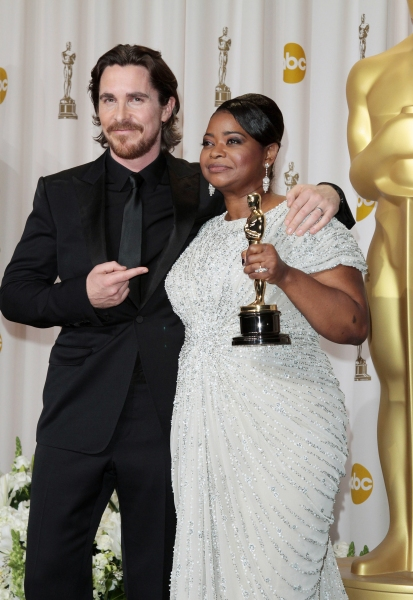 Christian Bale and Octavia Spencer