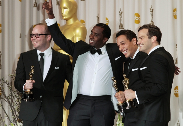 Producers Rich Middlemas and Sean Combs, and directors T.J. Martin and Dan Lindsay Photo